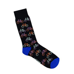 Lafitte Bicycles Sock - Black & Grey