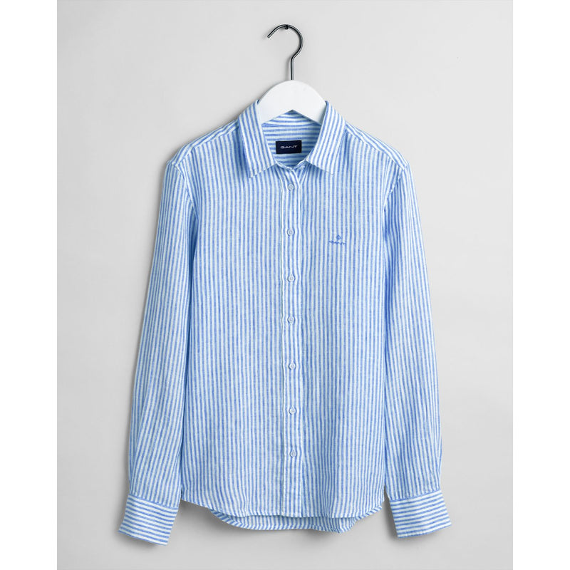 Gant Womens Linen Chambray Stripe Shirt - 2 Colours