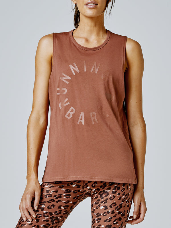 Running Bare Easy Rider Muscle Tank - Toffee