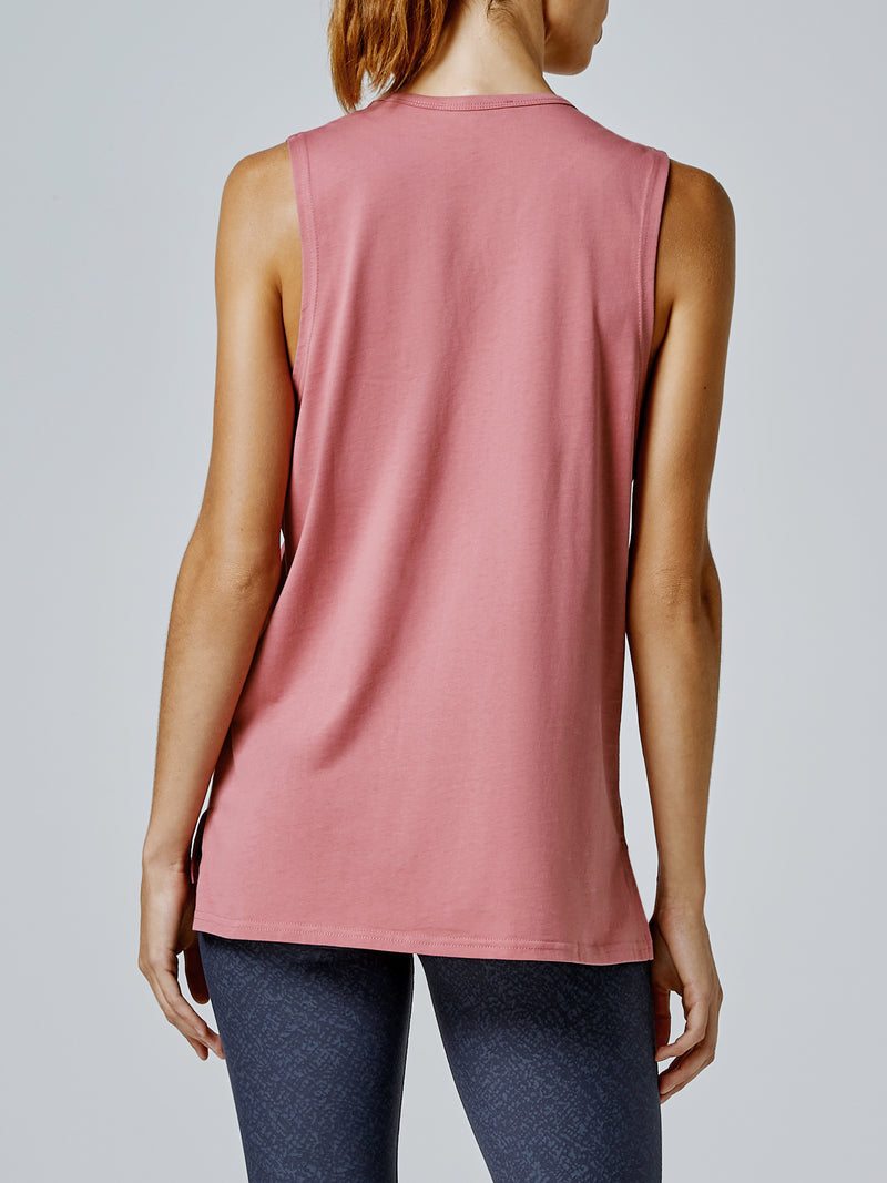 Running Bare Easy Rider Muscle Tank - Blush