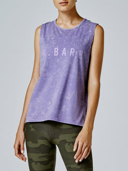 Running Bare Easy Rider Muscle Tank - Aster-Wash