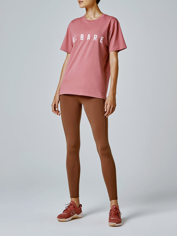 Running Bare Hollywood 90s Relax Tee - Blush
