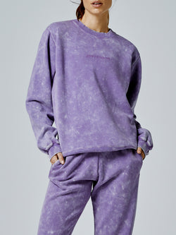 Running Bare Legacy Crew Sweat - Aster-Wash