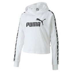 Puma Womens Cropped Training Hoodie - White & Black