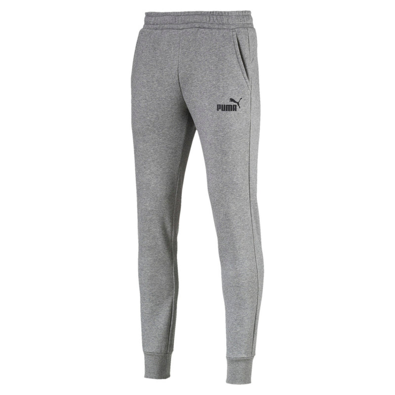 Puma Mens Essentials Fleece Pants - Grey, Black & Peacoat