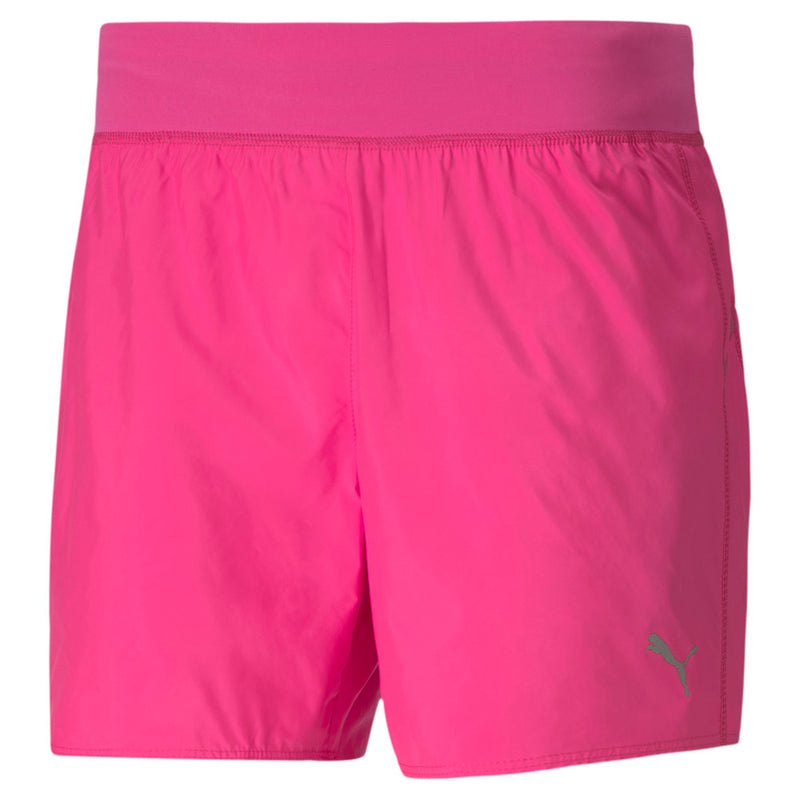 "Puma Womens IGNITE 5"" Running Shorts - Pink & Black"