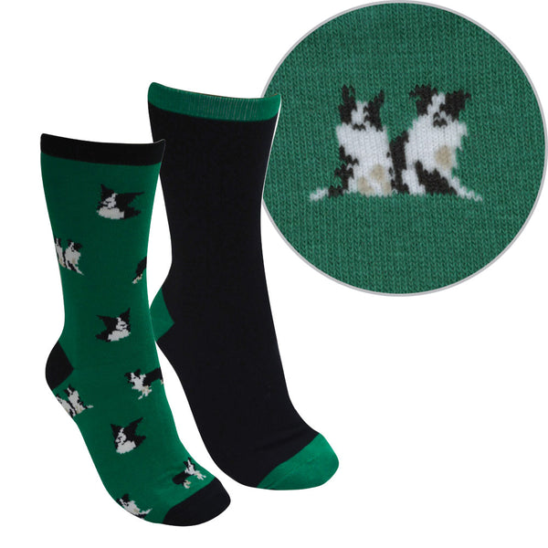 Thomas Cook Adult Farmyard Socks - Twin Pack
