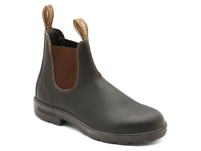 Blundstone 500 TPU Elastic Side Non-Safety Stout Brown Boot