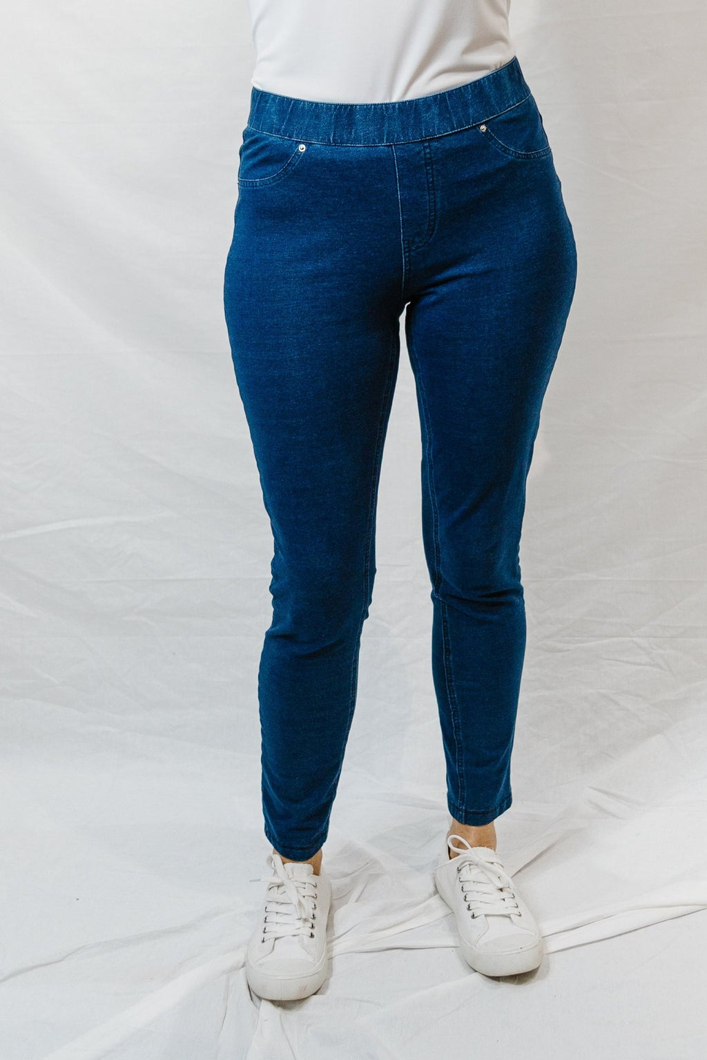Goondiwindi Cotton Indigo Knit Jeggings
