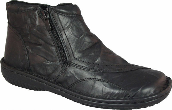 Cabello Womens Leather Crinkle Cabel Boot