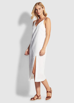 Seafolly Spirit Animal Linen Blend Slip Dress