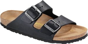 Birkenstock Arizona Black - Oiled Leather Regular