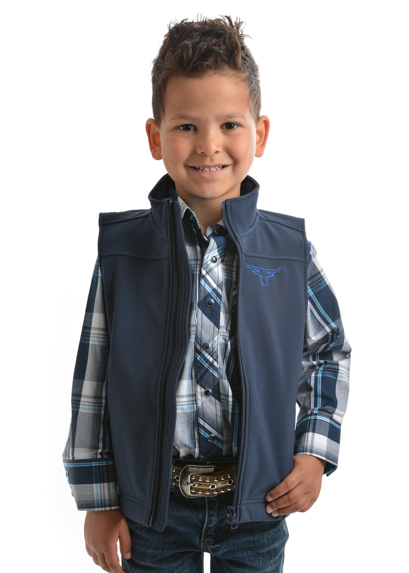 Pure Western Boys Soft Shell Vest