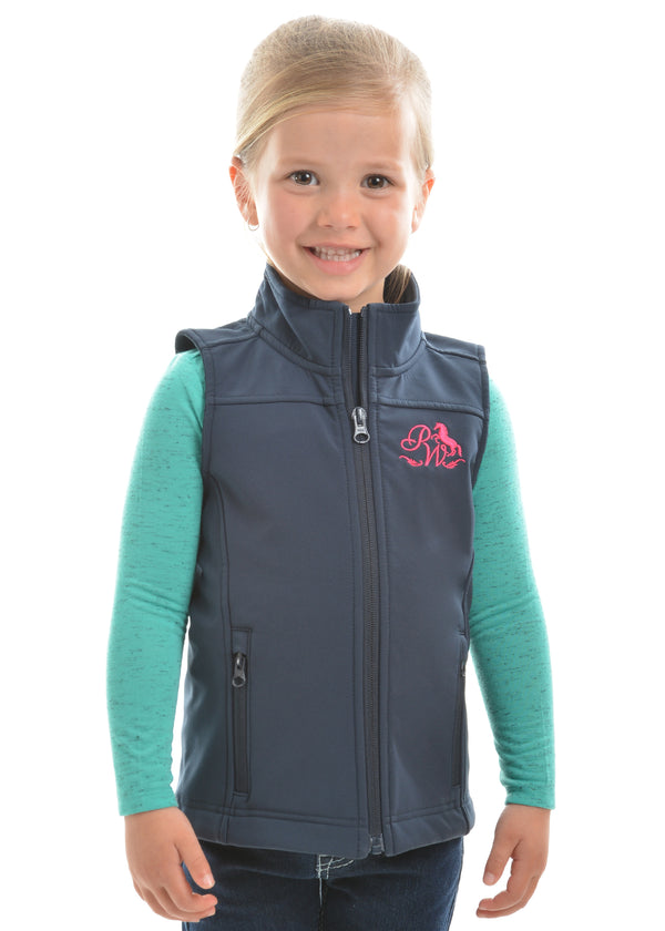 Pure Western Girls Soft Shell Vest