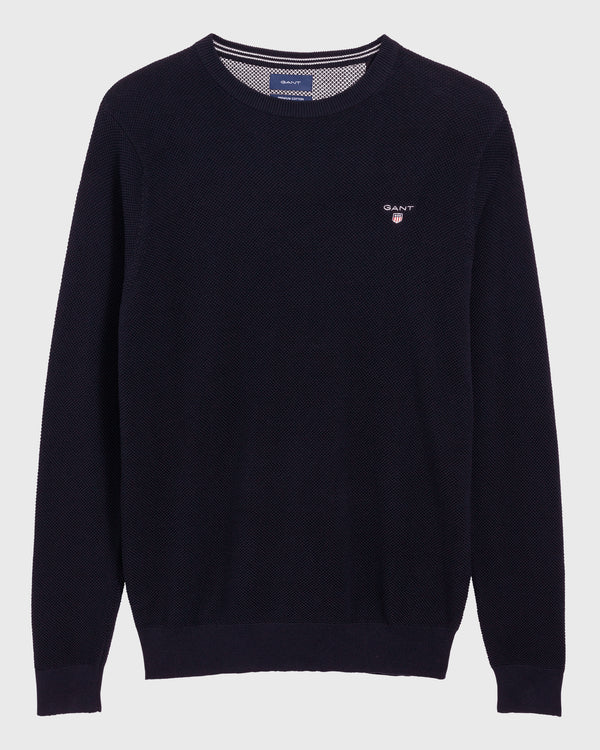 Gant Men's Pique Crew Sweater