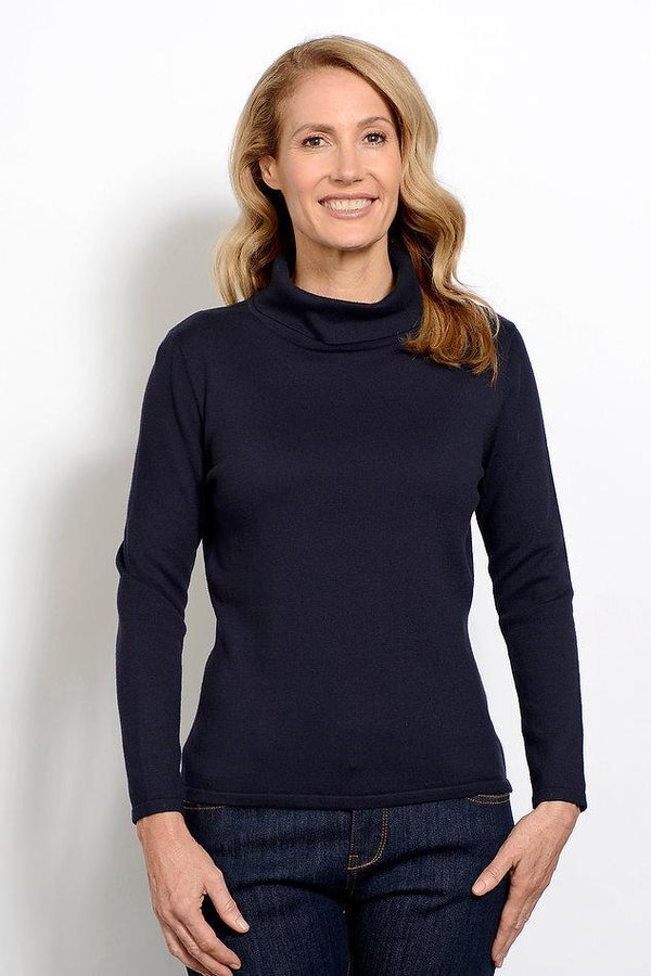 Goondiwindi Cotton Cashmere/Cotton Blend Roll Neck Skivvy - 4 Colours