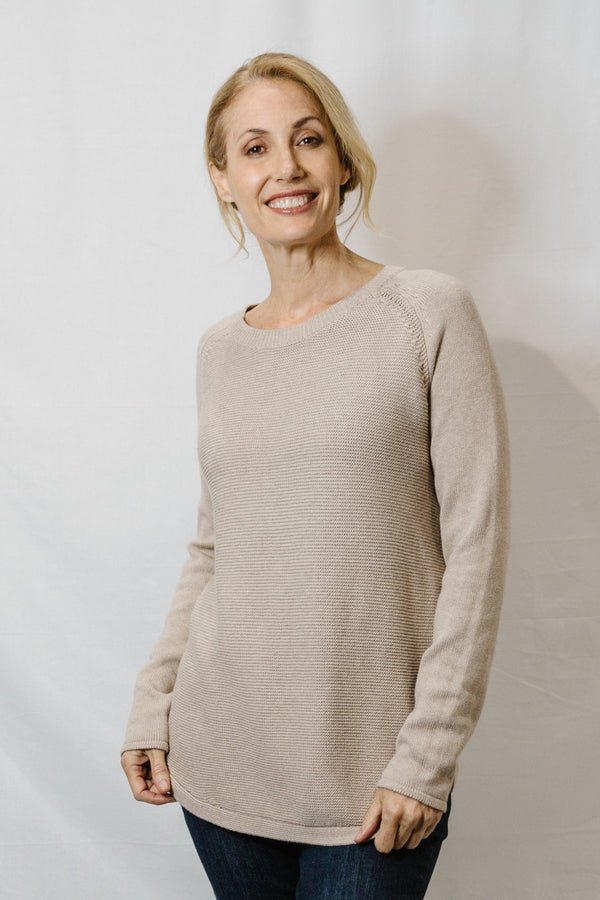 Goondiwindi Cotton Cashmere/Cotton Blend Crew Neck Jumper - 3 Colours
