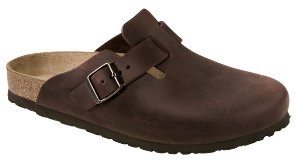 Birkenstock Boston Habana - Oiled Leather Narrow