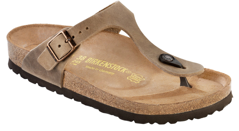 Birkenstock Gizeh Tabacco Brown - Oiled Leather Regular