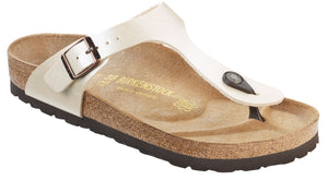Birkenstock Gizeh Graceful Pearl White - Birkoflor Regular
