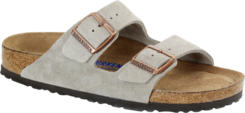 Birkenstock Arizona Taupe - Suede Narrow