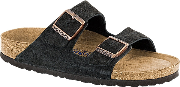 Birkenstock Arizona Mocca - Suede Leather/Soft Footbed Narrow