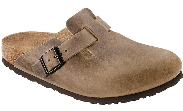 Birkenstock Boston Tobacco Brown - Oiled Leather Narrow