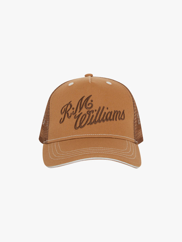 R.M. Williams Script Trucker Cap - Nutmeg