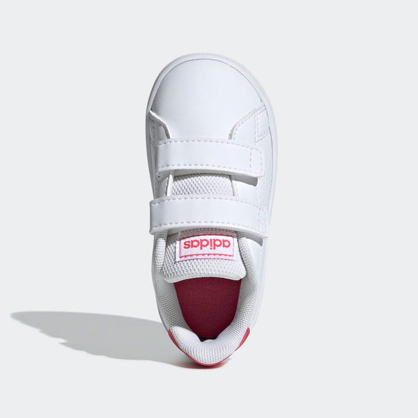Adidas Kids Advantage Shoes - Cloud White/Real Pink
