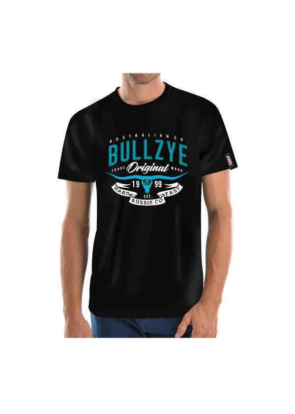 Bullzye Men's Hard and Fast Short Sleeve Tee - Black