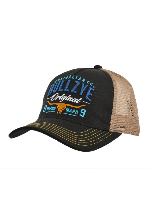 Bullzye Men's Trademark Trucker Cap - Black