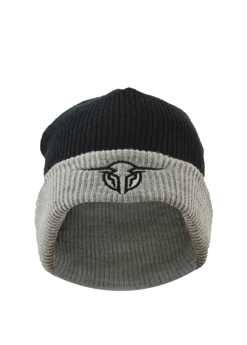 Bullzye Men's Authentic Beanie - Black/Charcoal