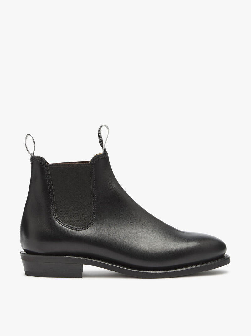 R.M. Williams Classic Adelaide Boot Black - D Fit - Rubber Sole