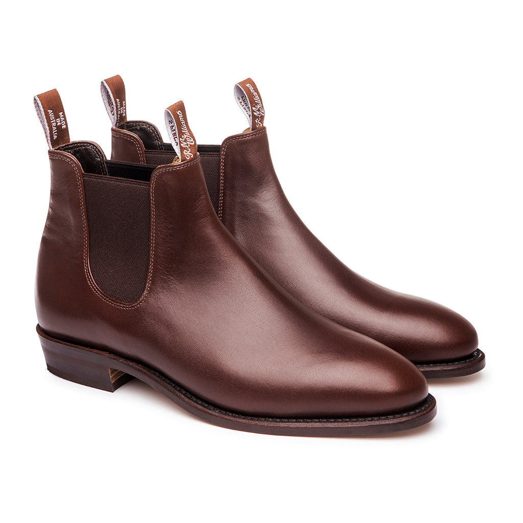 R.M. Williams Classic Adelaide Boot - D Fit - Dark Tan