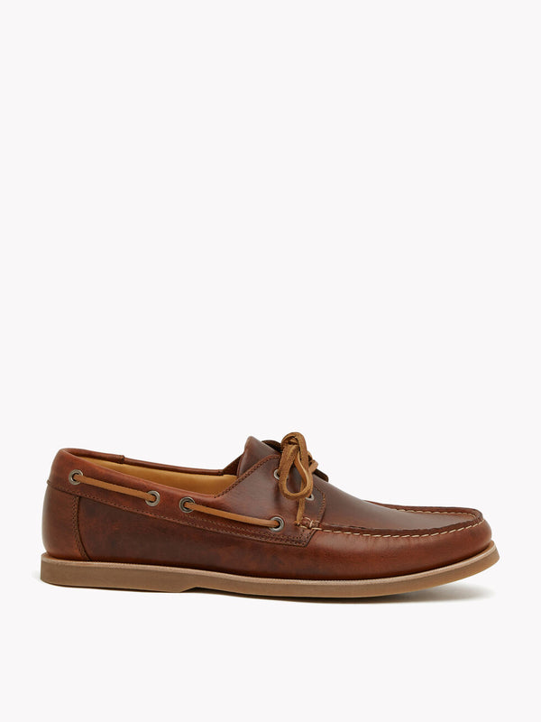R.M. Williams Barham Boat Shoe - G Fit - Tan