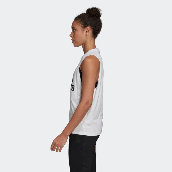 Adidas Womens Badge of Sport Cotton Tank Top - White