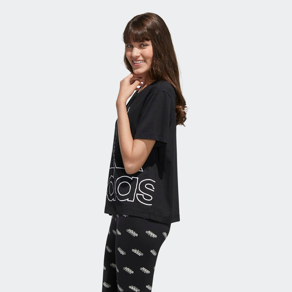 Adidas Womens Big Logo Tee - Black