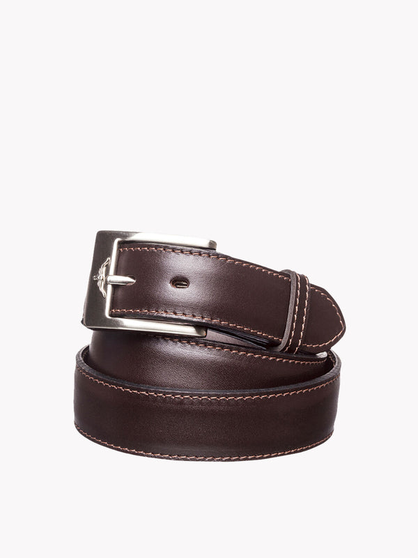 R.M. Williams Mens Dress Belt - Chestnut