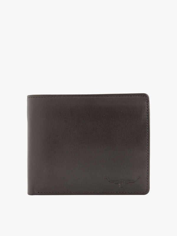 R.M. Williams Leather Tri-Fold Wallet - Chestnut