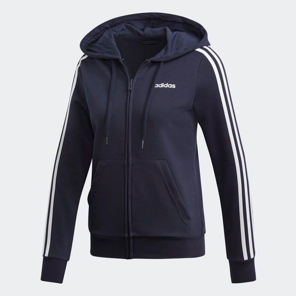 Adidas Womens Essentials 3-Stripe Hoodie