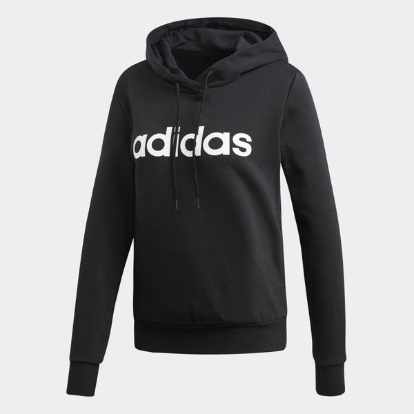Adidas Womens Essential Linear Pullover Hoodie
