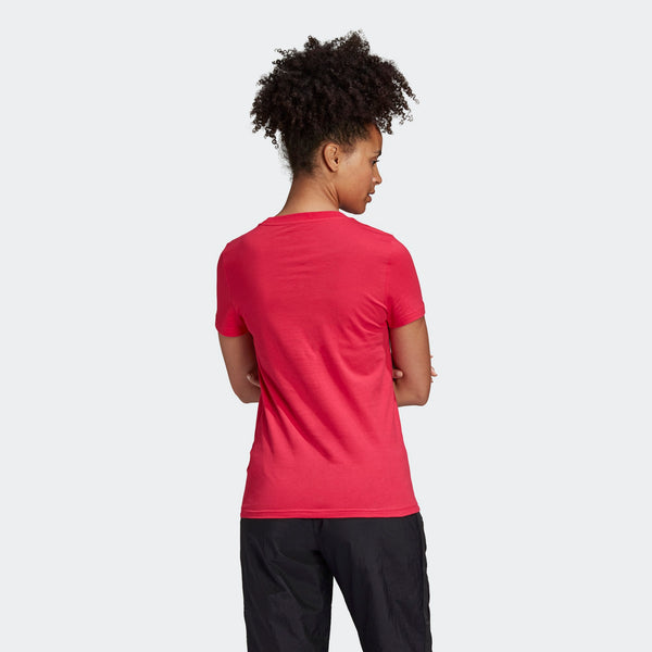 Adidas Essentials Linear Slim Tee - Power Pink