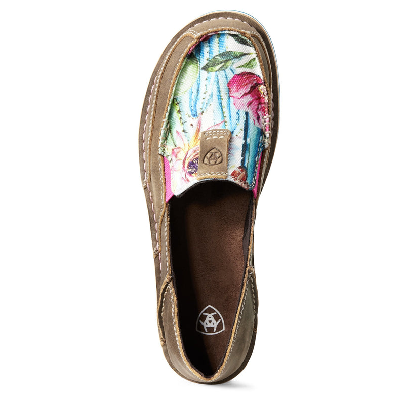 Ariat Womens Cruisers - Brown Bomber/Floral Cactus Print