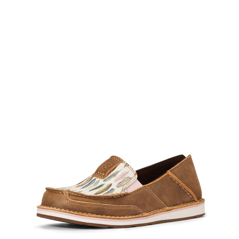 Ariat Women's Cruiser - Brown Bomber/Watercolour Feather