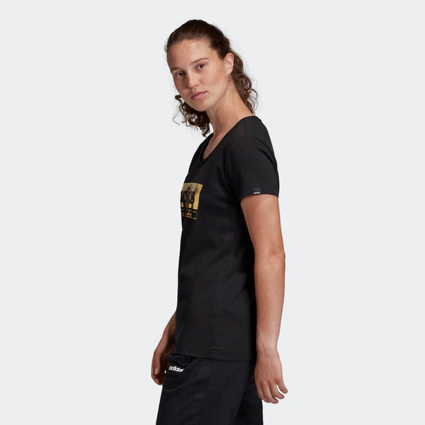 Adidas Womens Foil Graphic Tee - Black