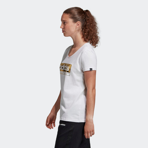 Adidas Womens Foil Graphic Tee - White