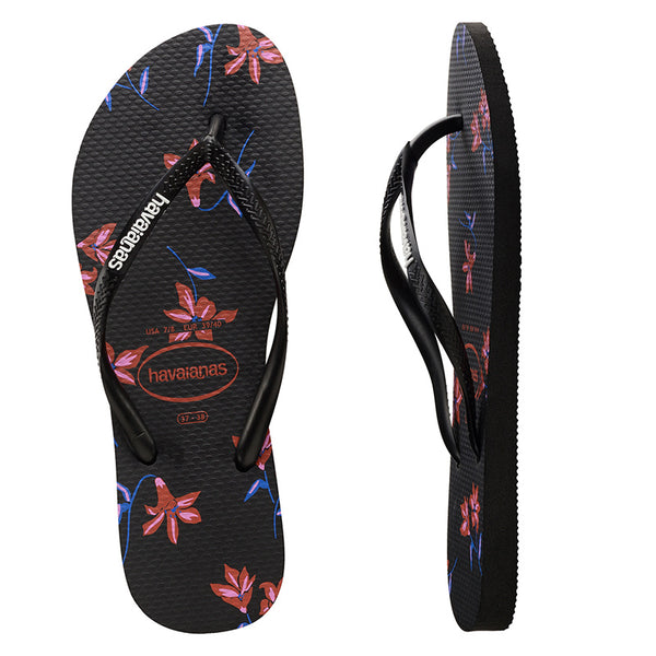 Womens Havaianas Slim Floral Thongs