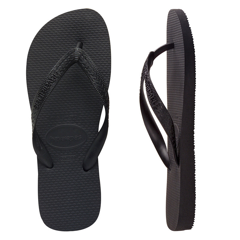 Mens Havaianas Top Black Thongs