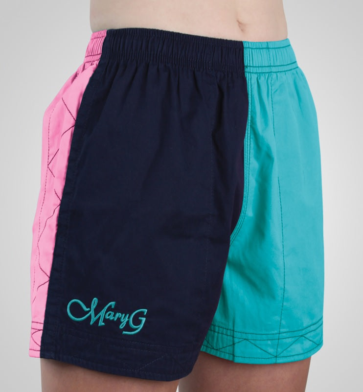 Mary G Ladies Australian Cotton Harlequin Shorts - Mid Rise
