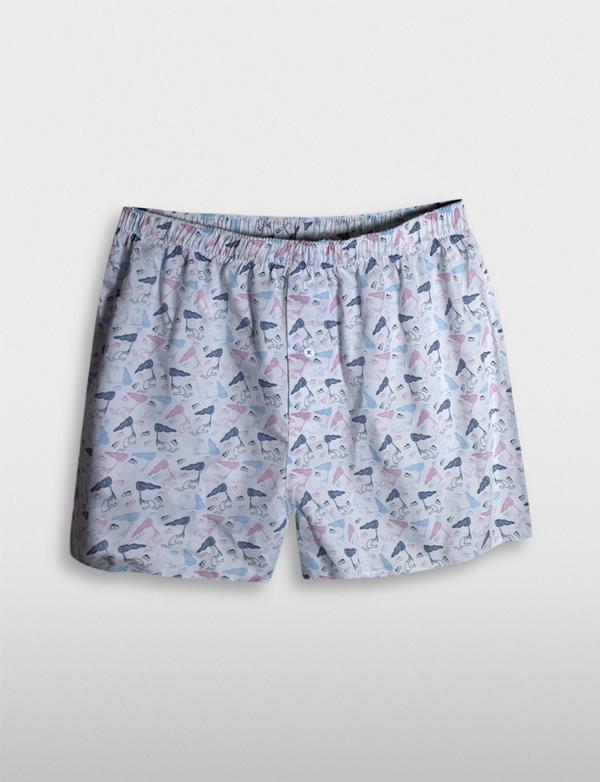 James Harper Michael Leunig Butterfly Net Print Boxer Shorts